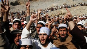 Afghan protest AP photo