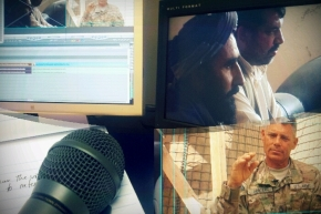 A montage from an edit suite